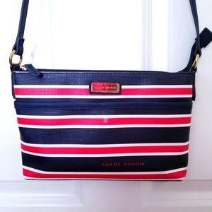 Tommy Hilfiger Red, White, & Blue Stripe Crossbody